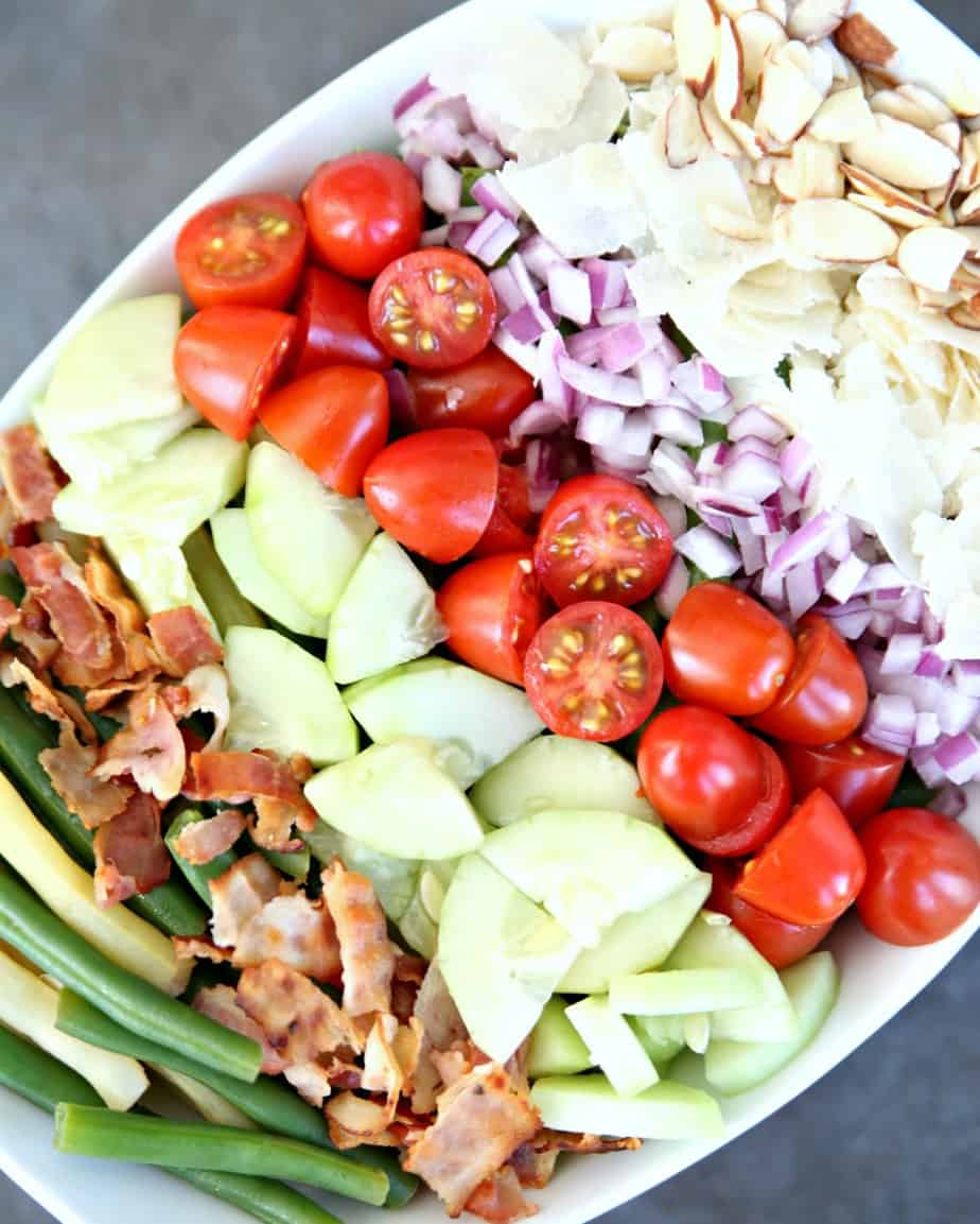 Bacon, Tomato, and Parmesan Bean Salad - Ingredients