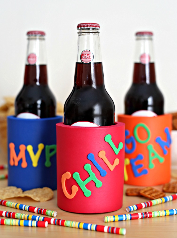 Decorate your own koozies with a few simple craft supplies.