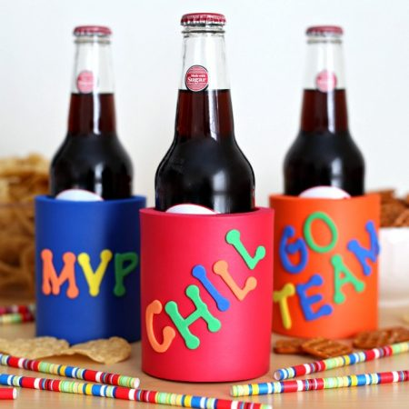 Decorate Your Own Koozies. A fun Super Bowl party craft project.
