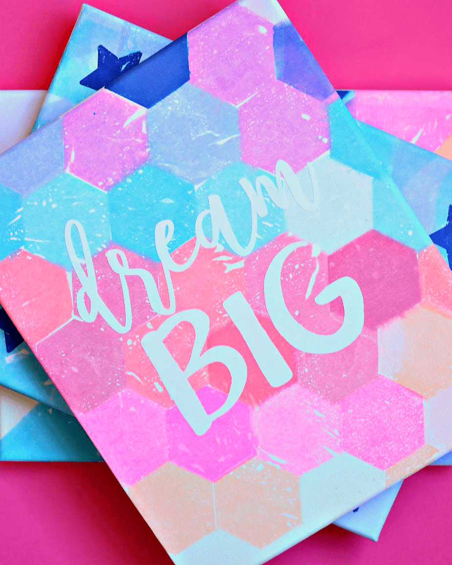 Dream Big Bleeding Tissue Paper Art