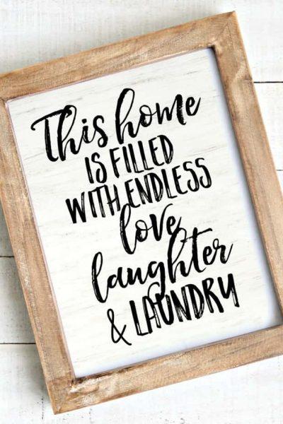 Laundry Farmhouse Sign