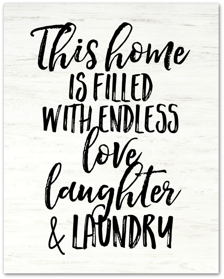 Laundry Farmhouse Sign Free Printable