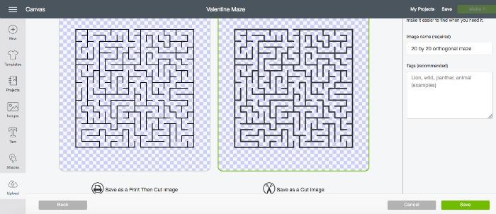 Maze Valentine's Day Cards - A fun Valentine Cricut Project