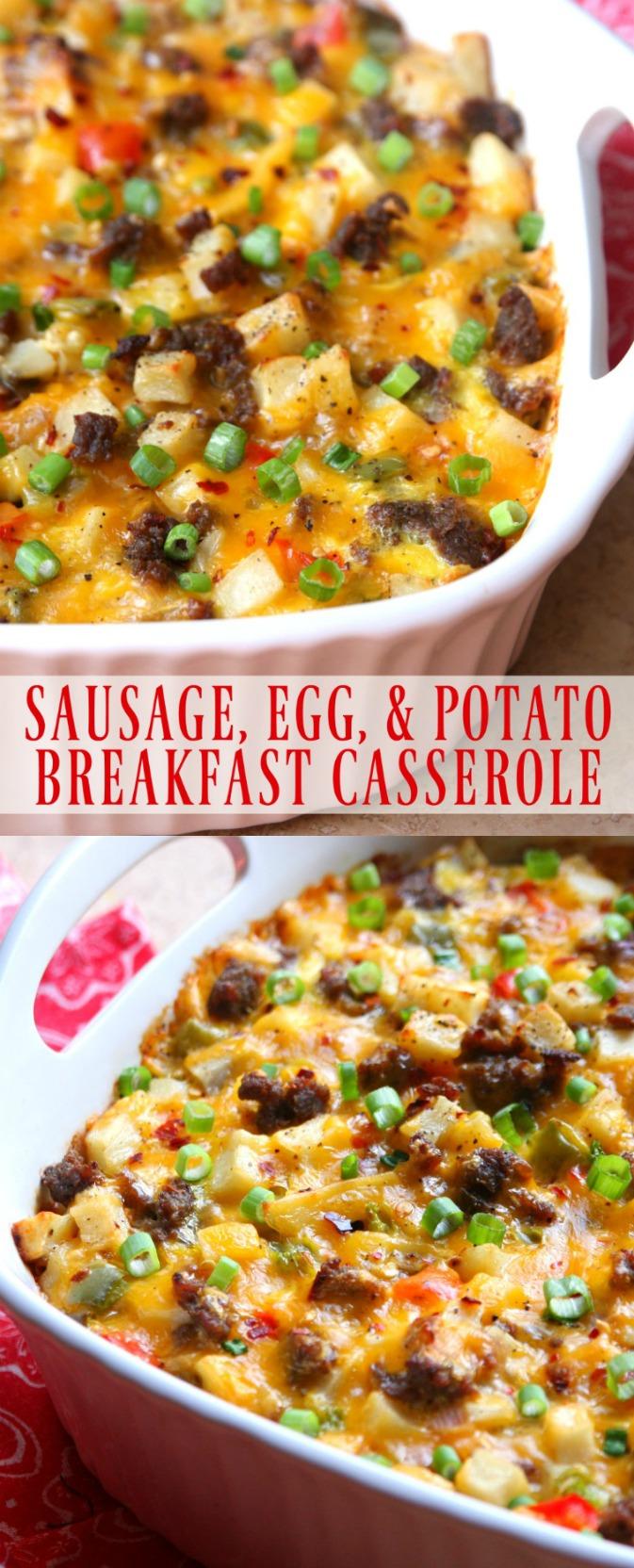 Sausage Egg Potato Breakfast Casserole