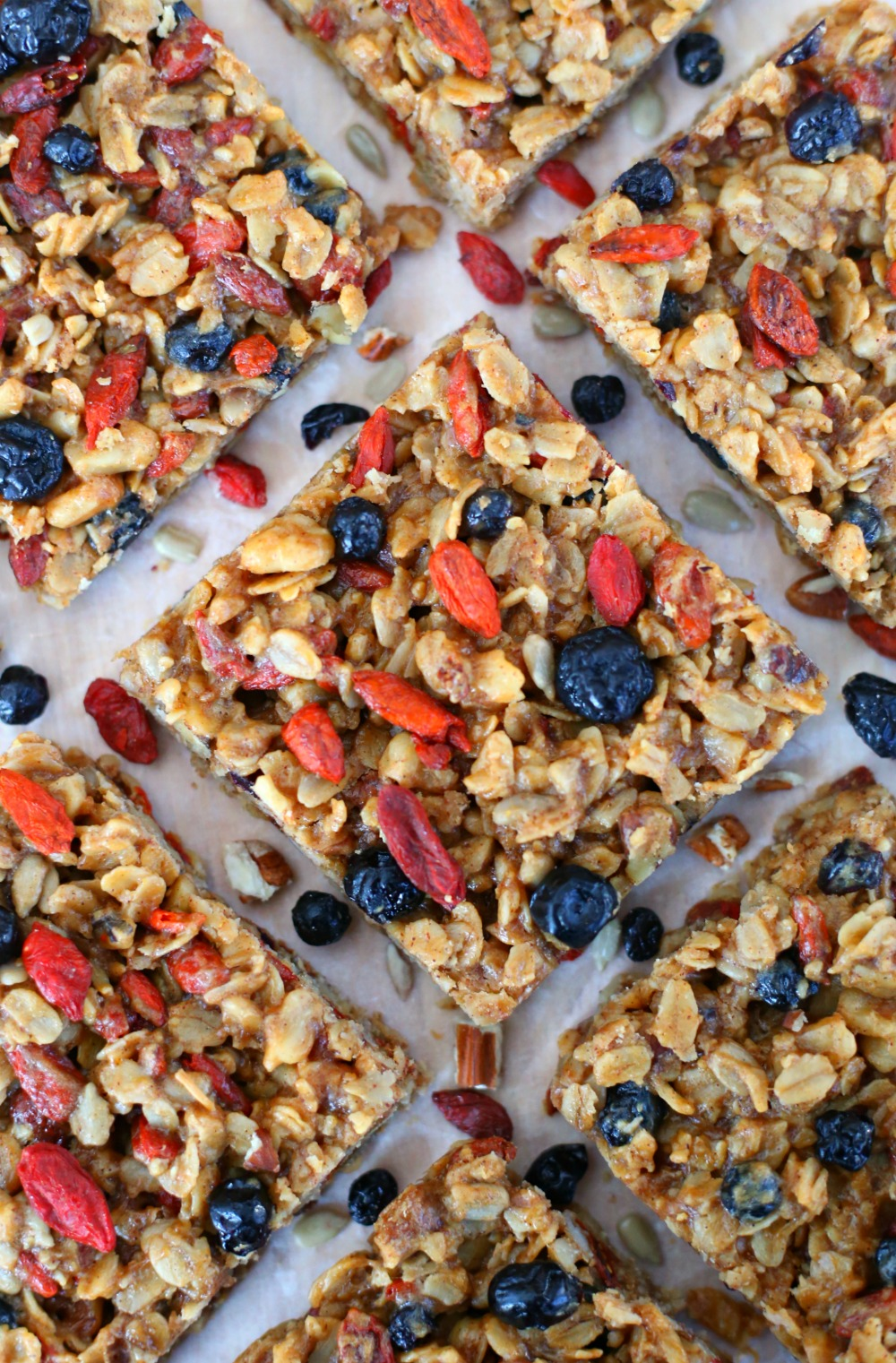 Superfood breakfast bars packed full of healthy ingredients for Superfood bar