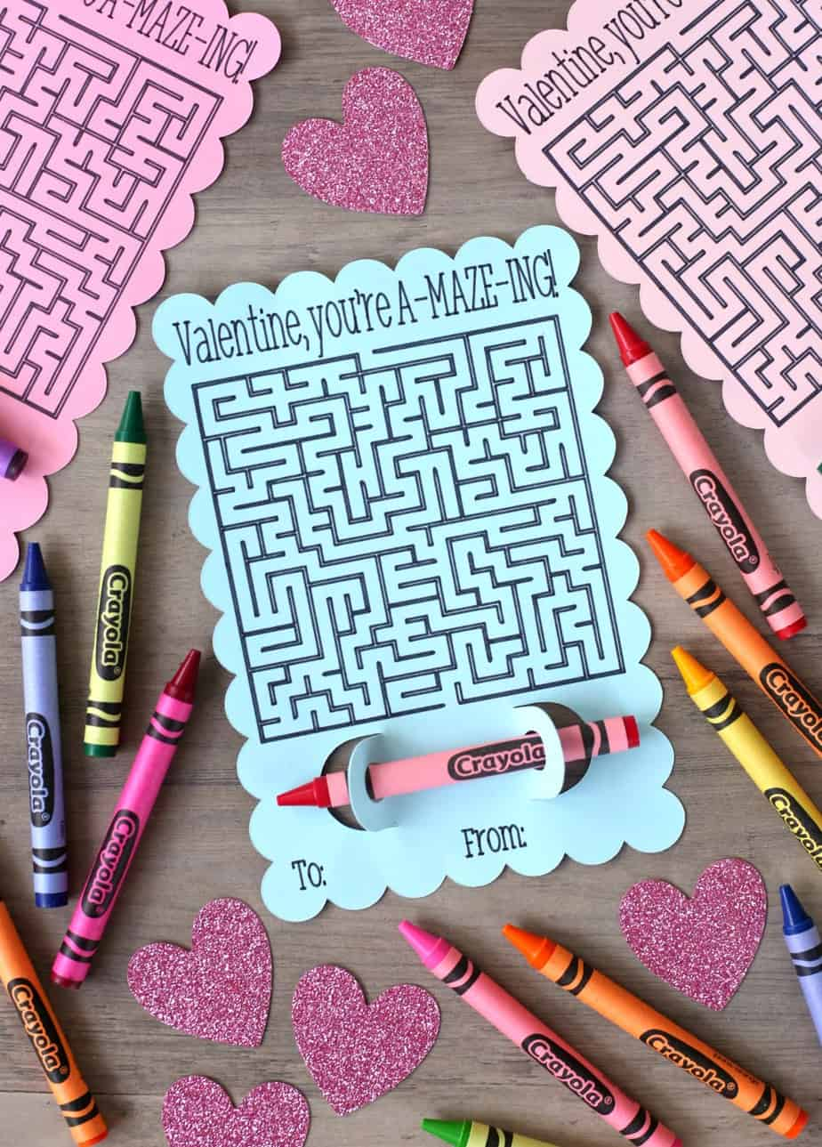 Valentine You're Amazing Maze Valentine