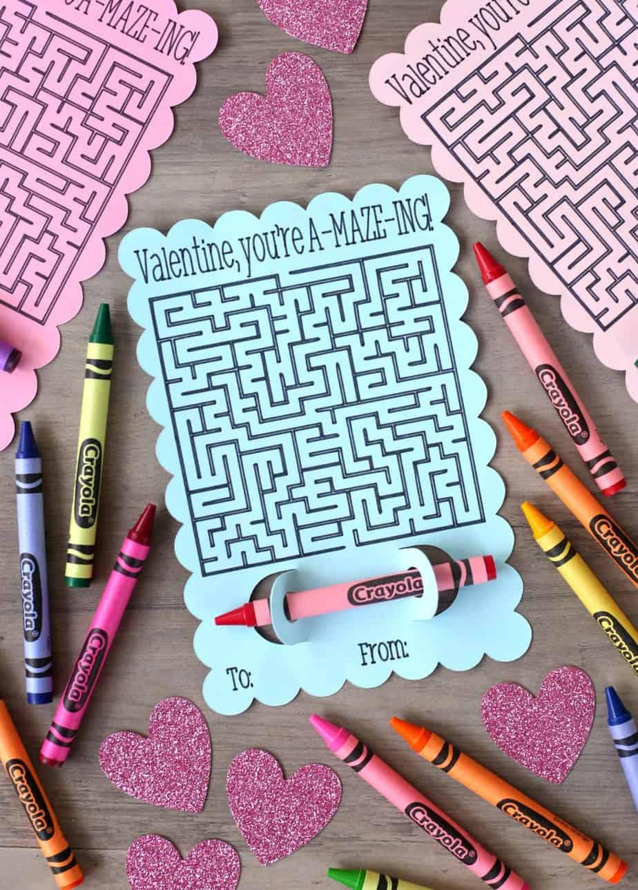 Valentine You're Amazing Maze Valentine