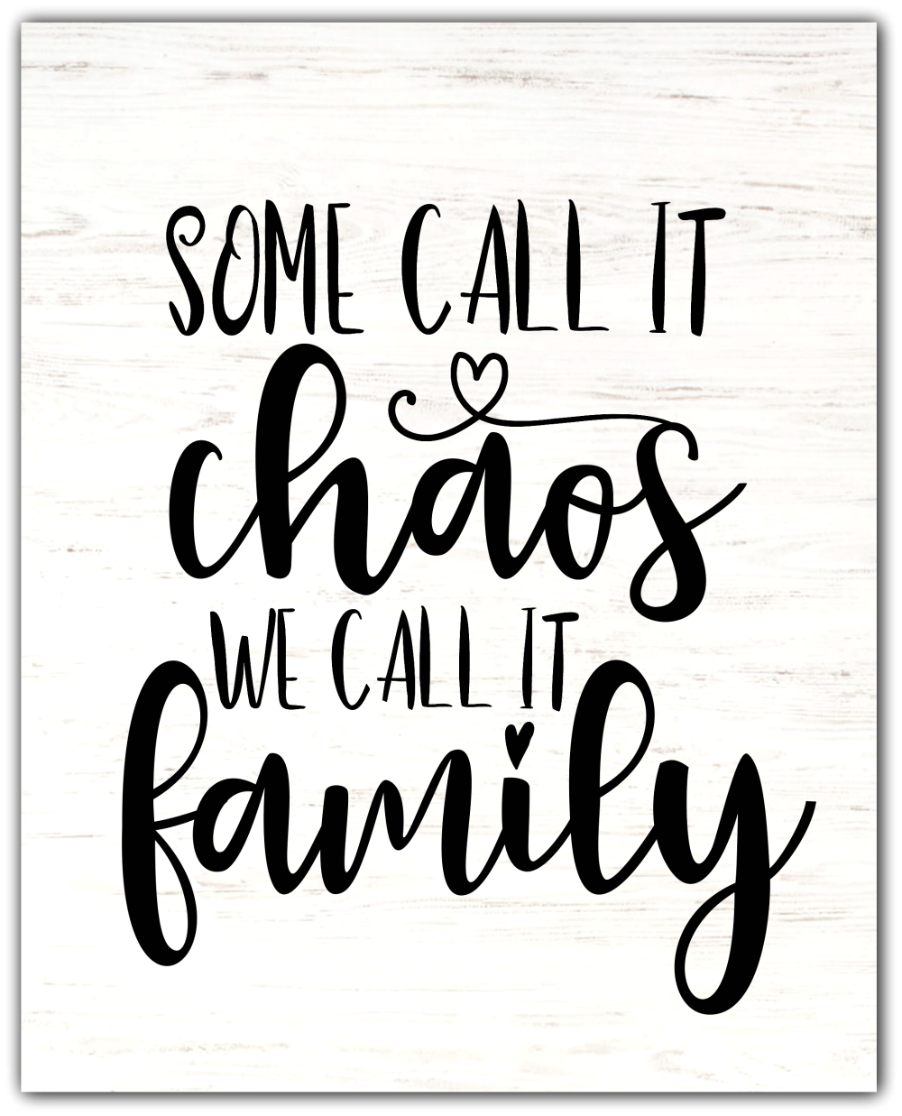 Chaos Family Free Printable