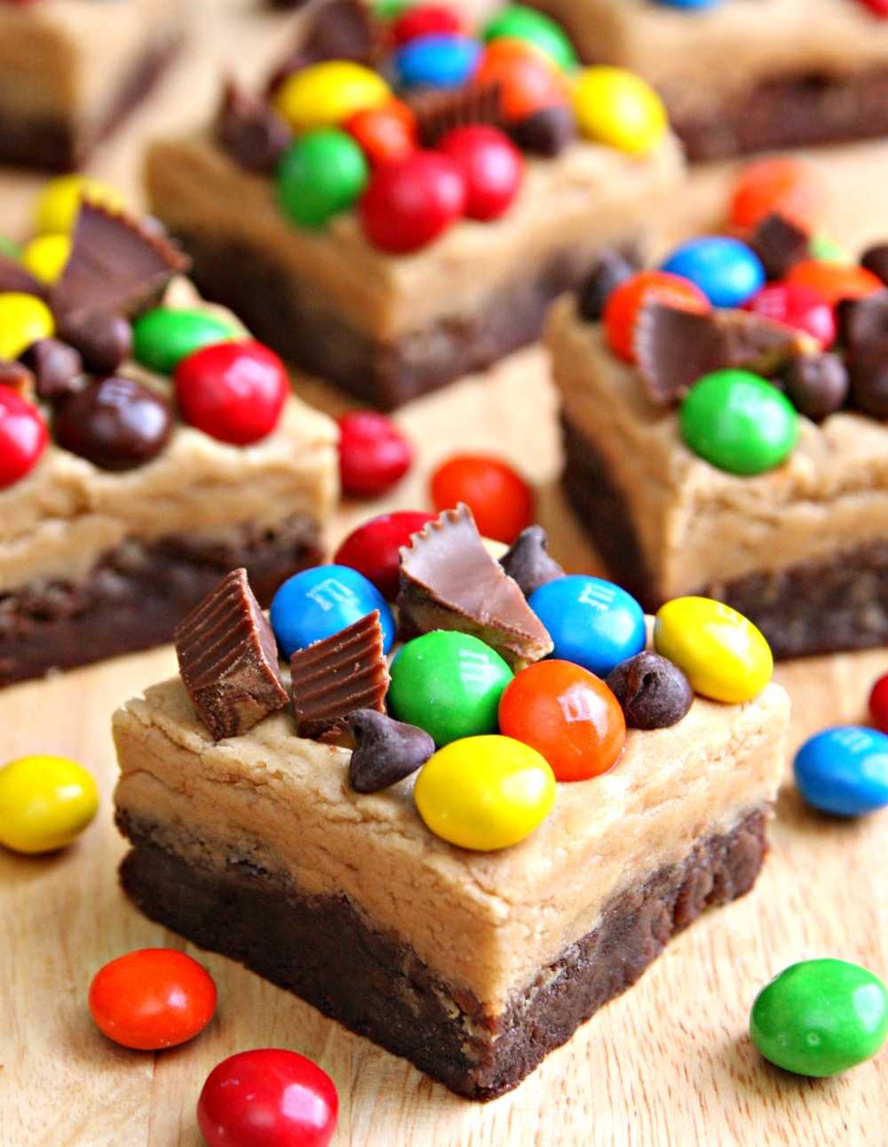 Loaded Peanut Butter Chocolate Brownie Bars