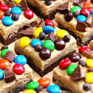 Loaded Peanut Butter Cookie Dough Brownie Bars