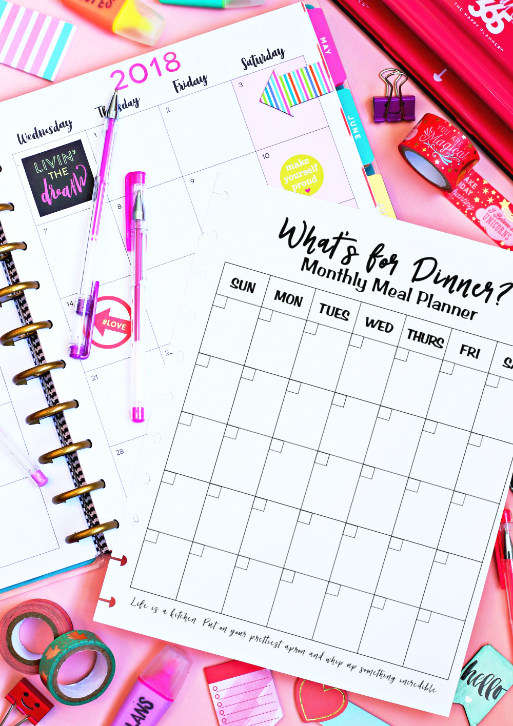 Monthly Meal Planner - Meal Planners Free Printable