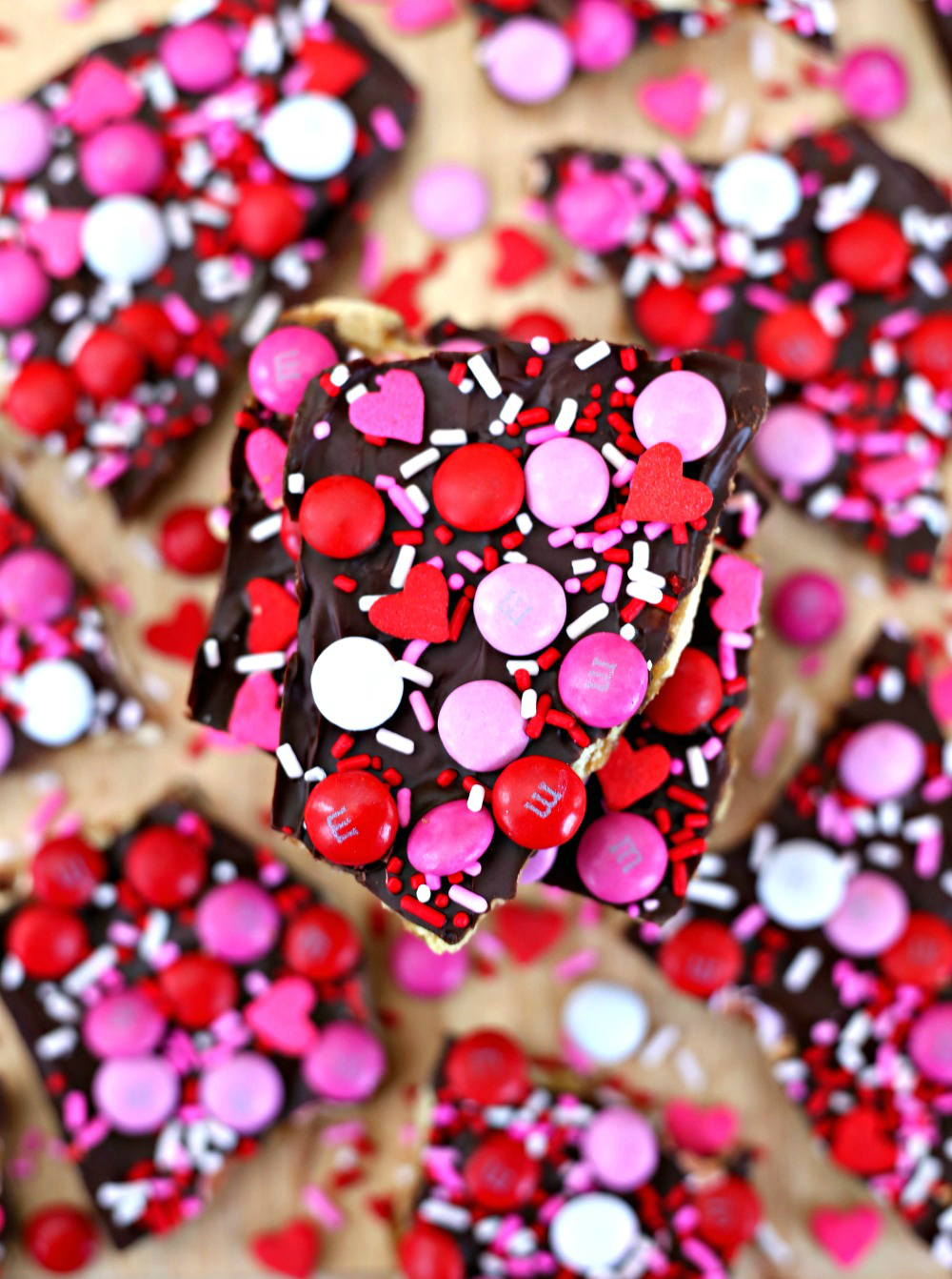 Valentine's Day Saltine Toffee Bark