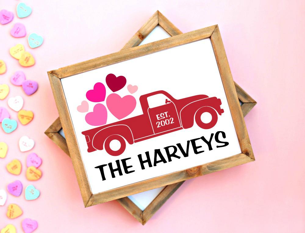 Valentine's Day Vintage Truck Sign