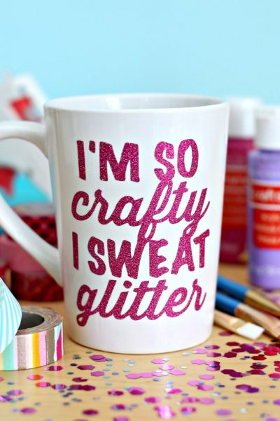 I'm so Crafty I Sweat Glitter SVG Cut File
