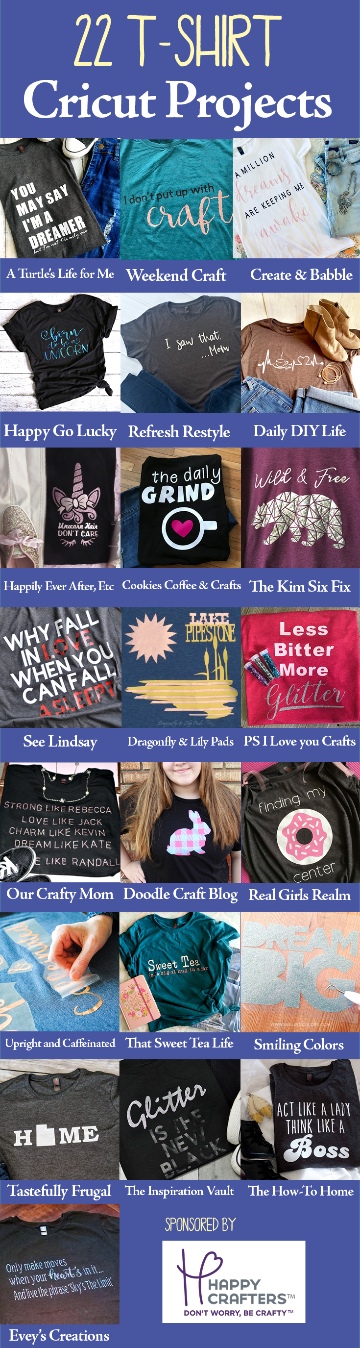 22 Cricut T-Shirt Projects