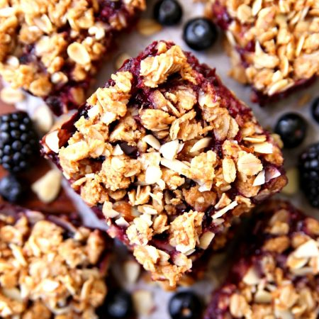 Healthy and Clean Berry Streusel Bars
