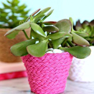 Braided Twine Flower Pots