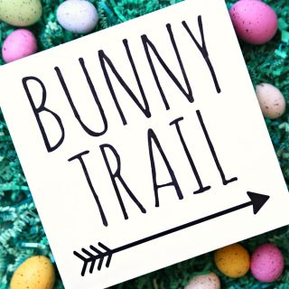 Bunny Trail Easter Sign {Free SVG Cut File}