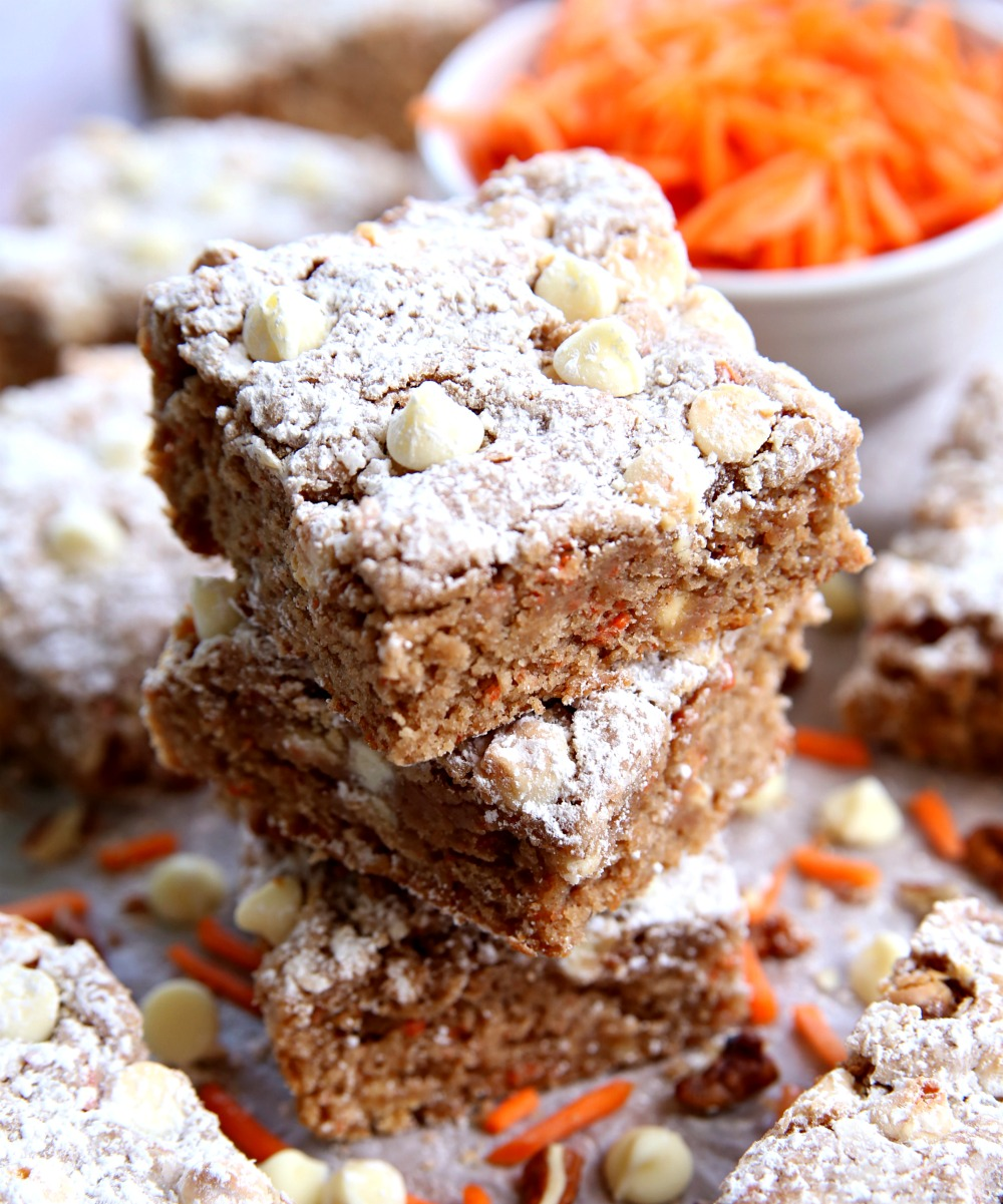 Carrot Cake Ooey Goey Cookie Bars