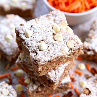 Easy Carrot Cake Ooey Gooey Cookie Bars
