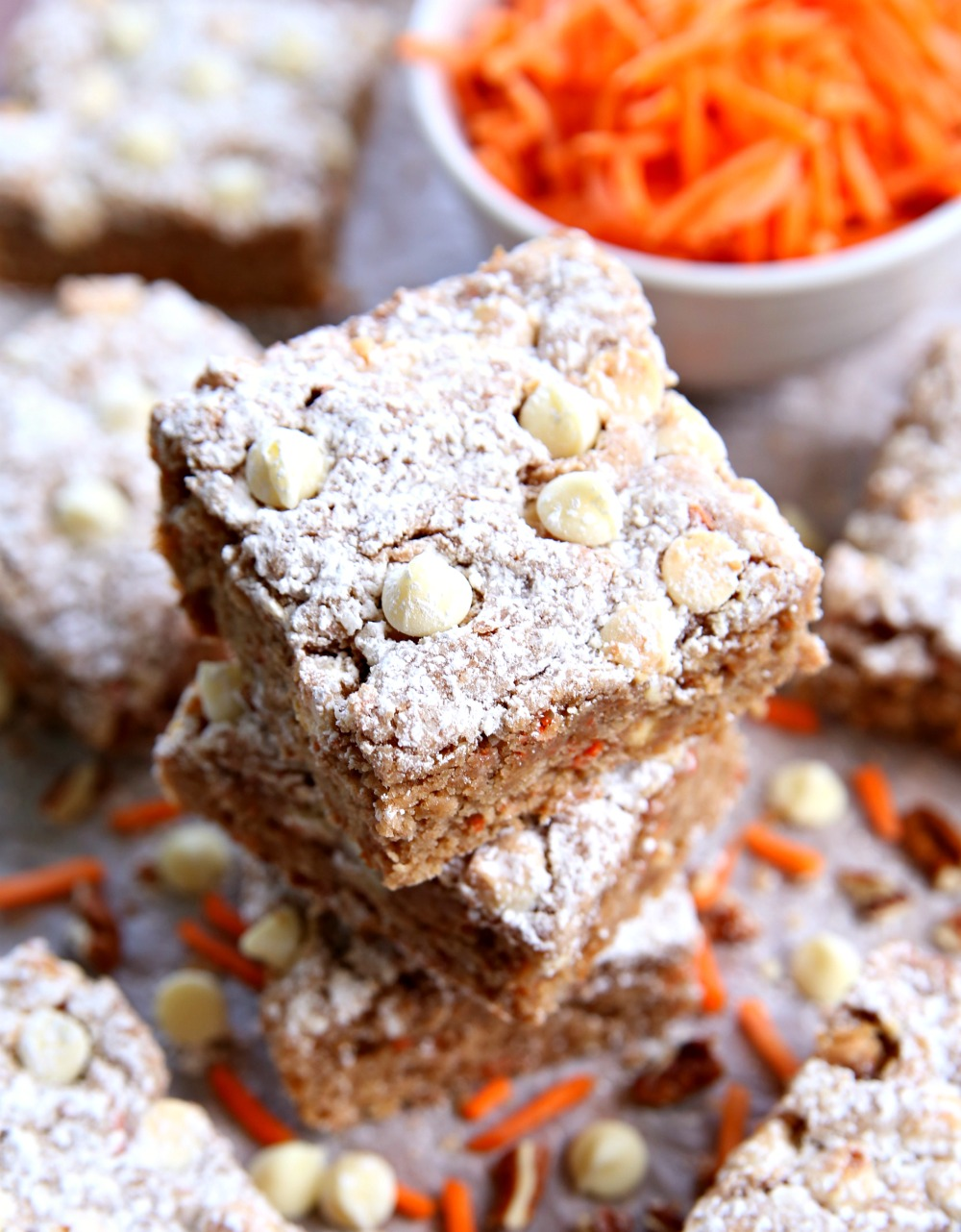 Carrot Cake Ooey Gooey Bars - A delicious Easter dessert everyone will love!