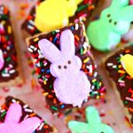 Easter Rice Krispie Treat Bars with PEEPS