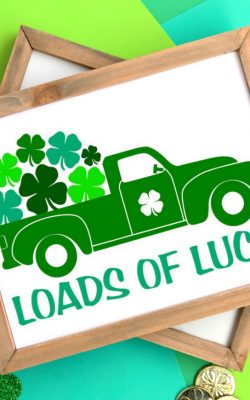 Loads of Lucky Printable St. Patrick's Day Free Printable and SVG Cut File