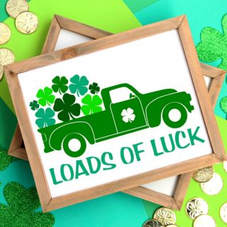 Loads of Luck Vintage Truck Printable Sign