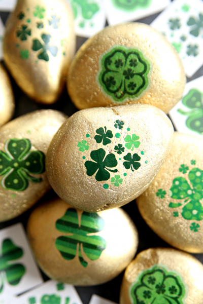 Lucky Four-Leaf Clover Kindness Rocks