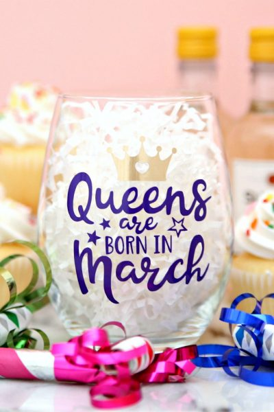 Queens are Born in March SVG Cut File