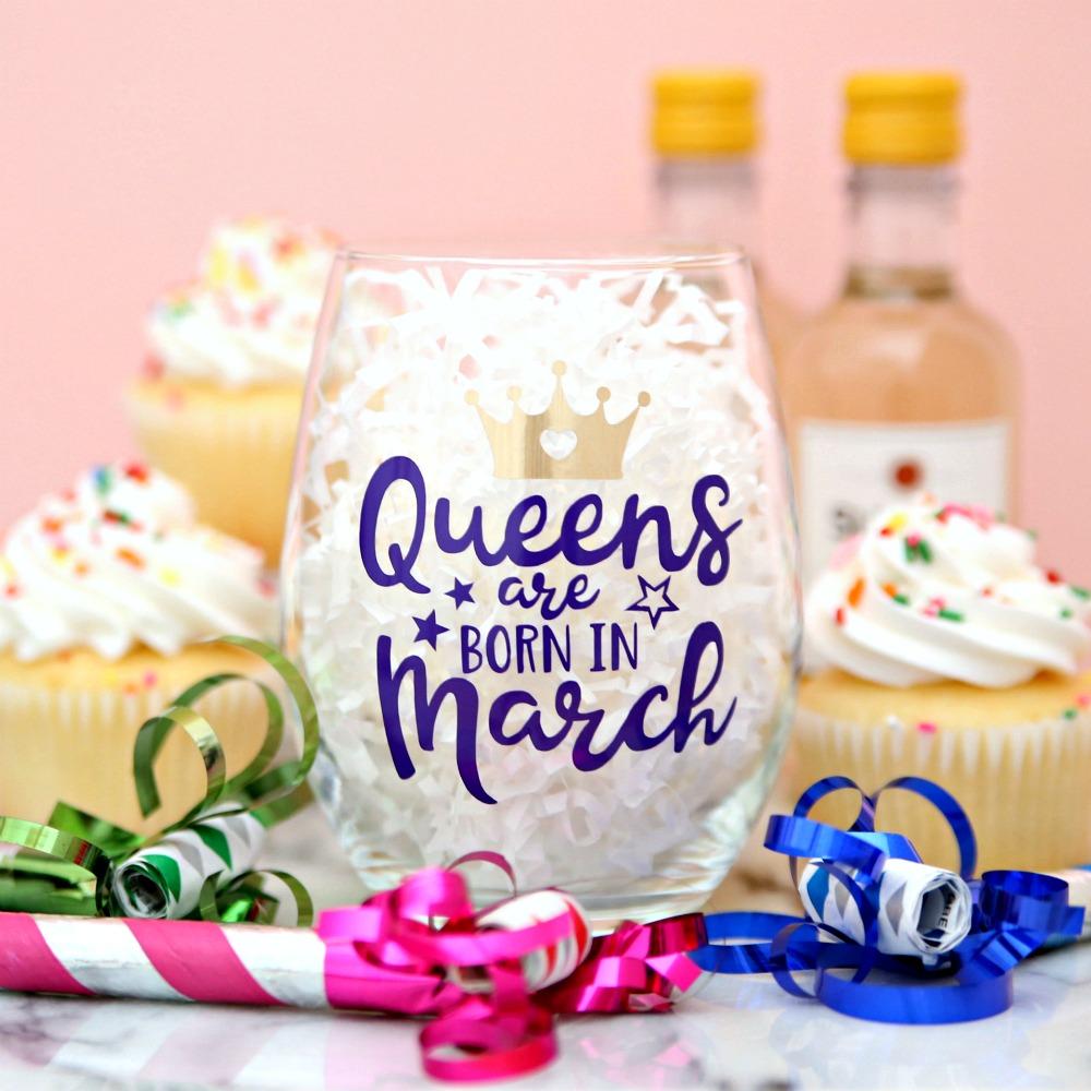 Queens are Born in March Free SVG Cut File