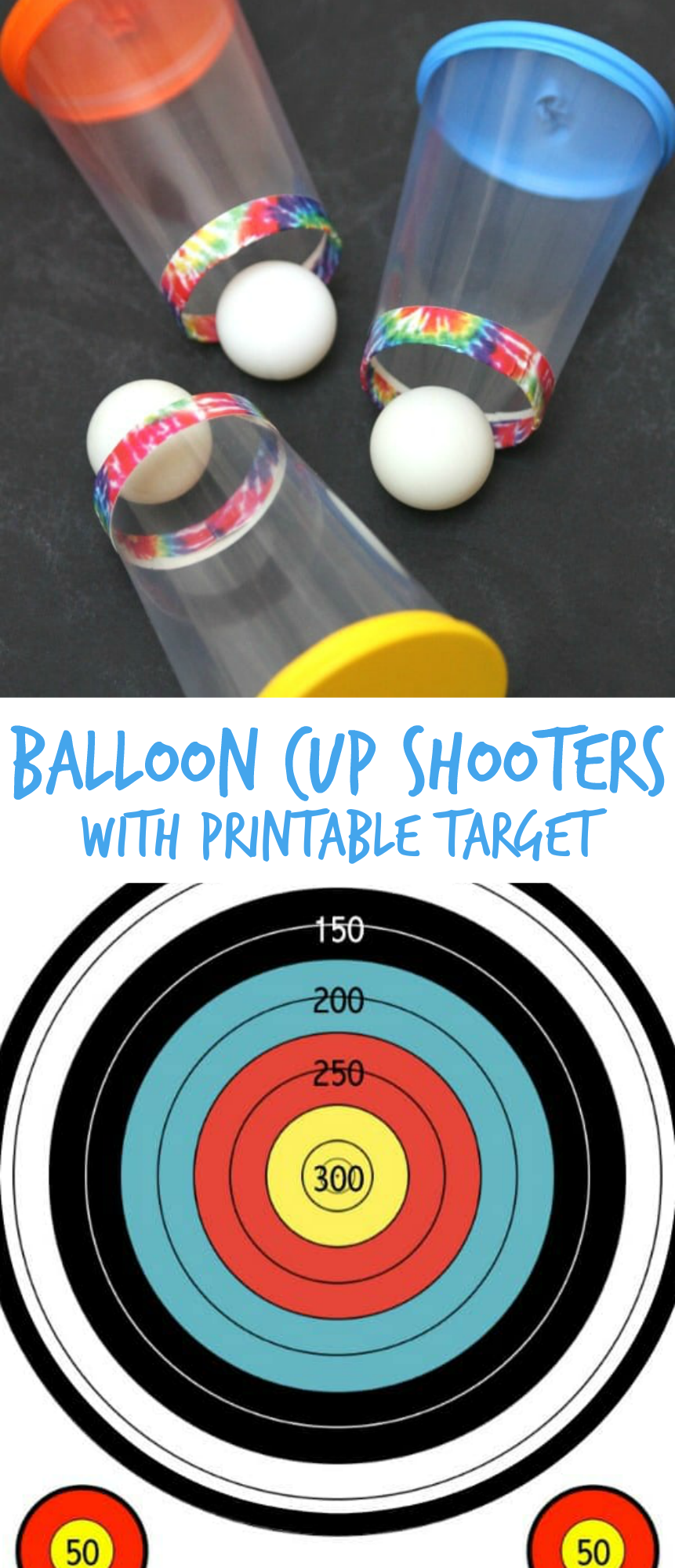 Camping Games Balloon Cup Shooters