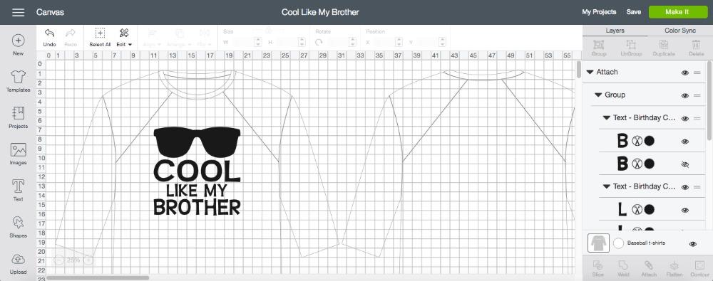 Cricut Cool Like My Brother Matching Shirts Design