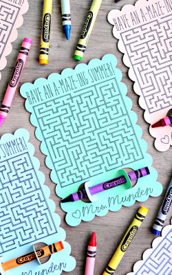 Have an A-MAZE-ING Summer! Student Gift End of School Year Teacher gift for Students