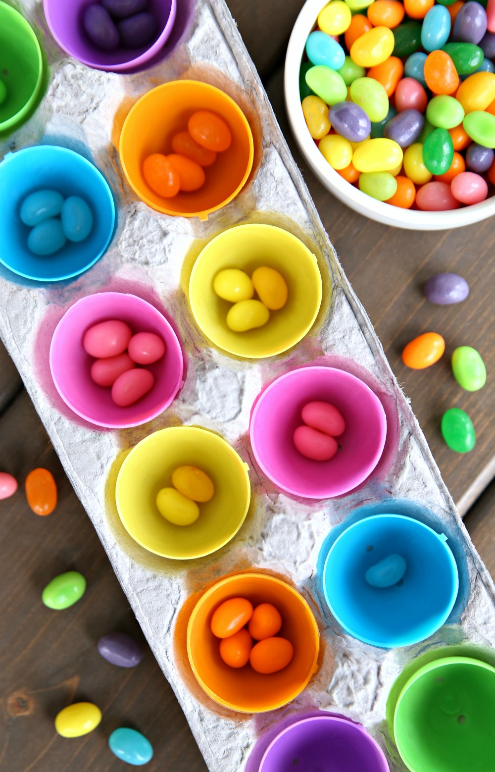Jelly Bean Sorting Toddler Color Matching Game