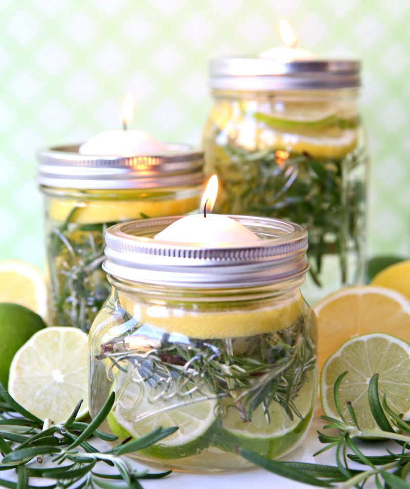 Keep those pesky bugs away and enjoy your outdoor living space with these fabulous DIY Bug Repellent  Mason Jar Luminaries.  All you need is a few simple supplies and you won't have to worry about any bug bites.  Just sit back and relax!