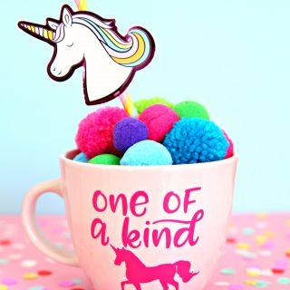One of a Kind Unicorn Mug and Free SVG Cut File