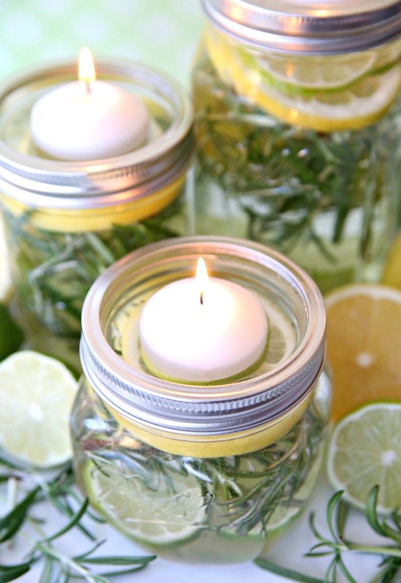 Bug Repellent Mason Jar Luminaries
