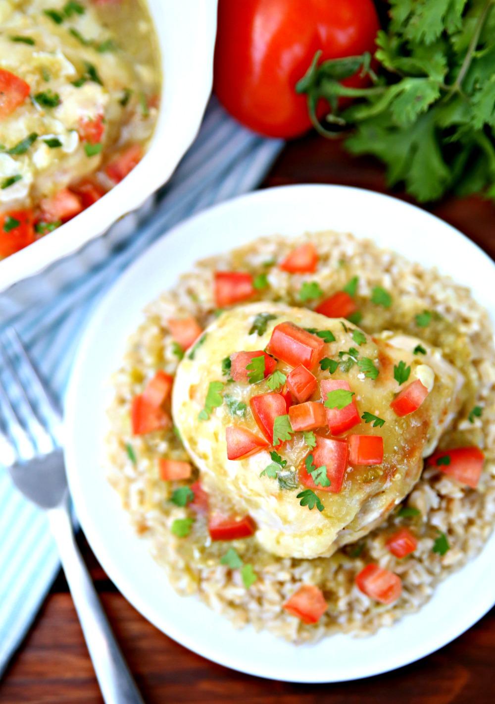 Chicken Salsa Verde Bake