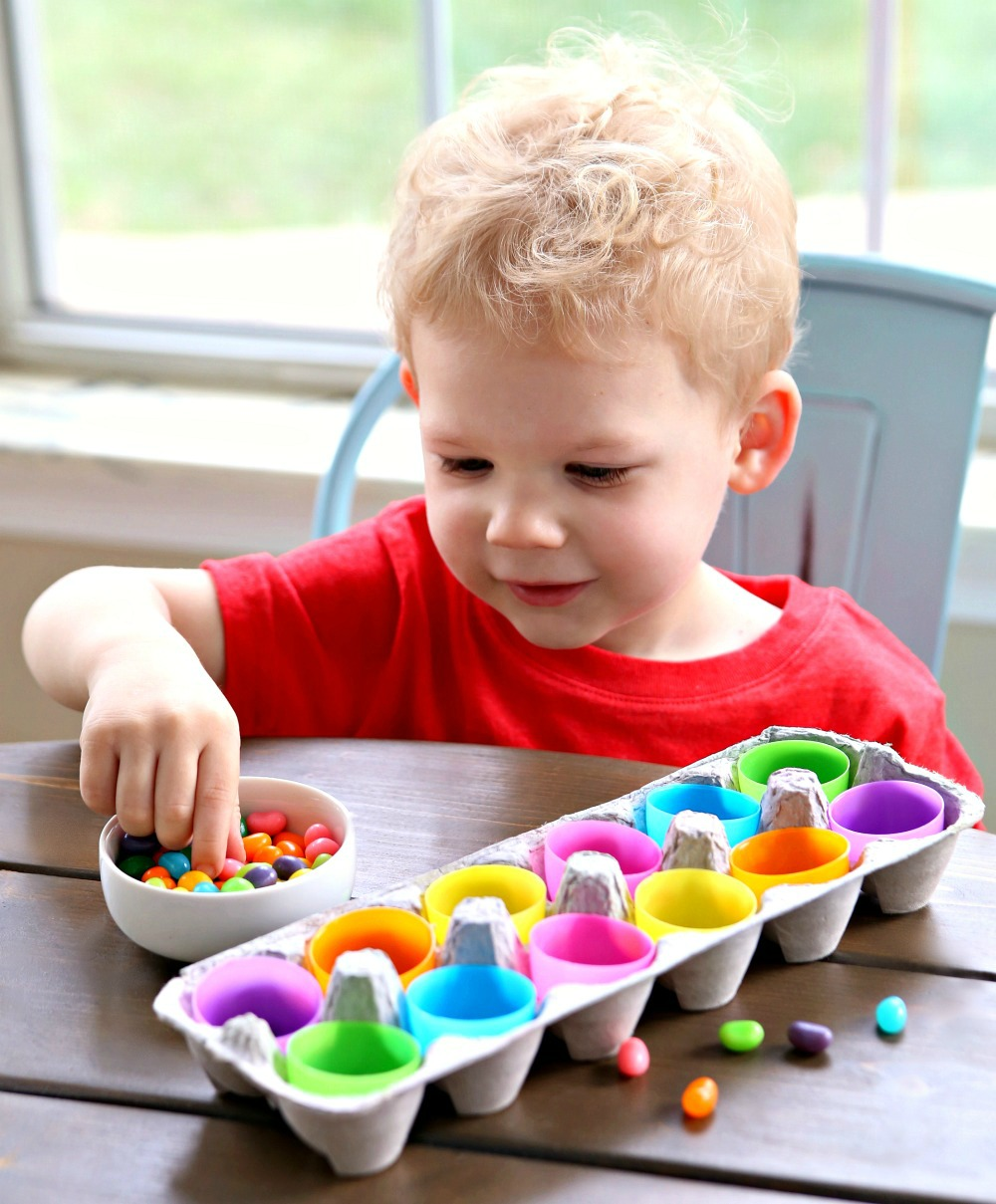 Sorting Jelly Beans Coloring Matching Toddler Game