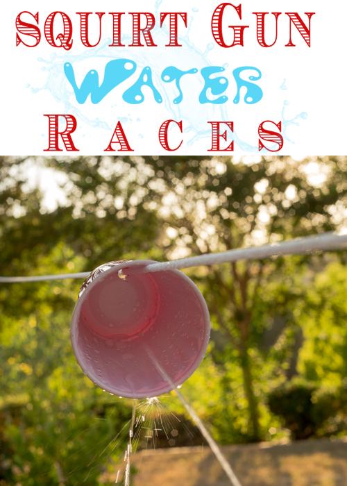 Camping Games Water Gun Race