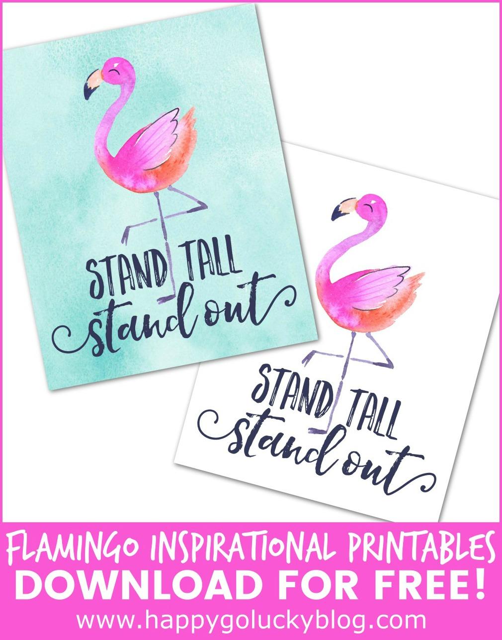 Flamingo Inspirational Art Stand Tall