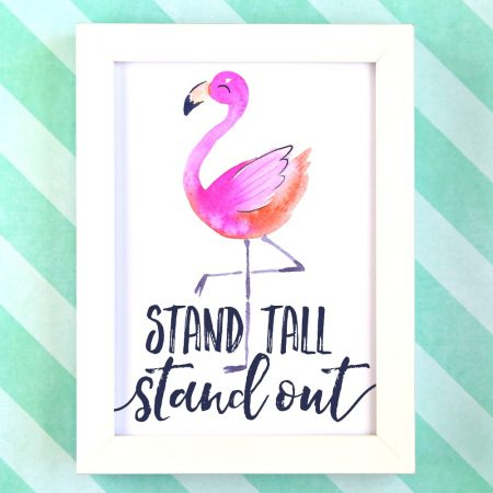 Stand Tall Stand Out Free Printable 1-2