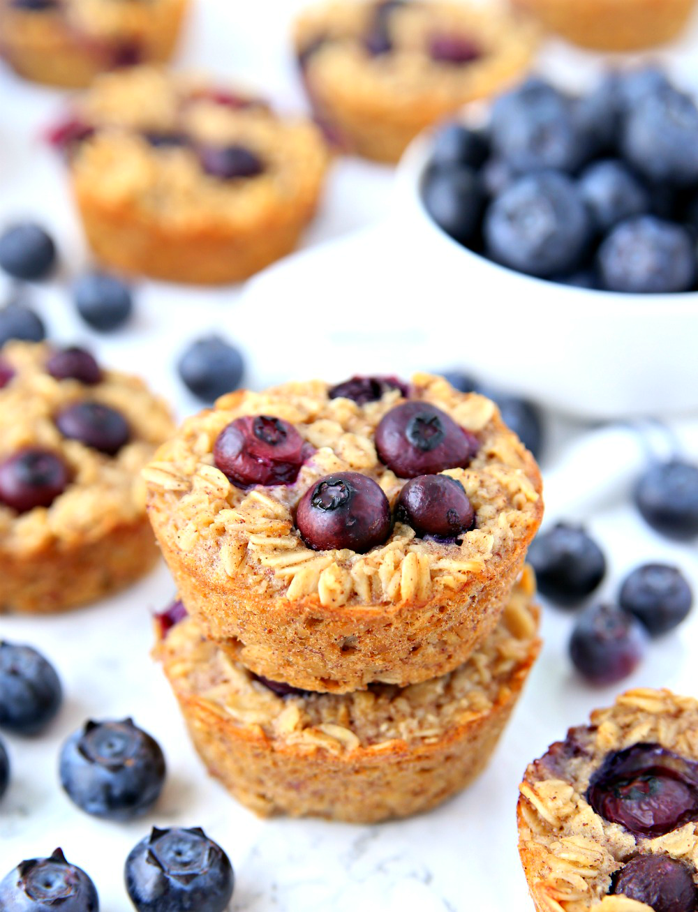 Blueberry Oatmeal Cups - An easy breakfast the entire family will love!