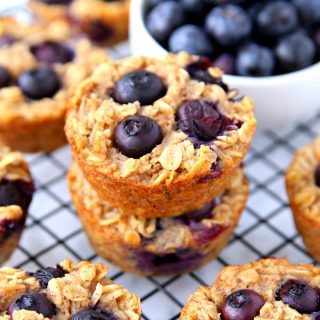 Blueberry Oatmeal Cups Make-Ahead Breakfast