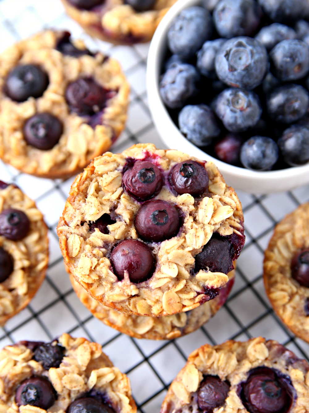 Clean Eating Blueberry Oatmeal Cups