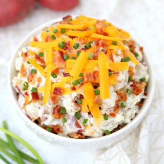 Easy Loaded Baked Potato Salad Recipe - The perfect side dish for your cookout.