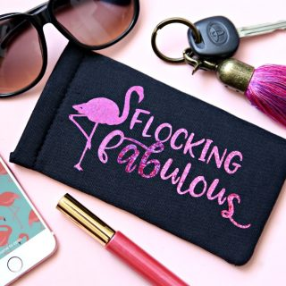 Flocking Fabulous Flamingo Free SVG Cut File