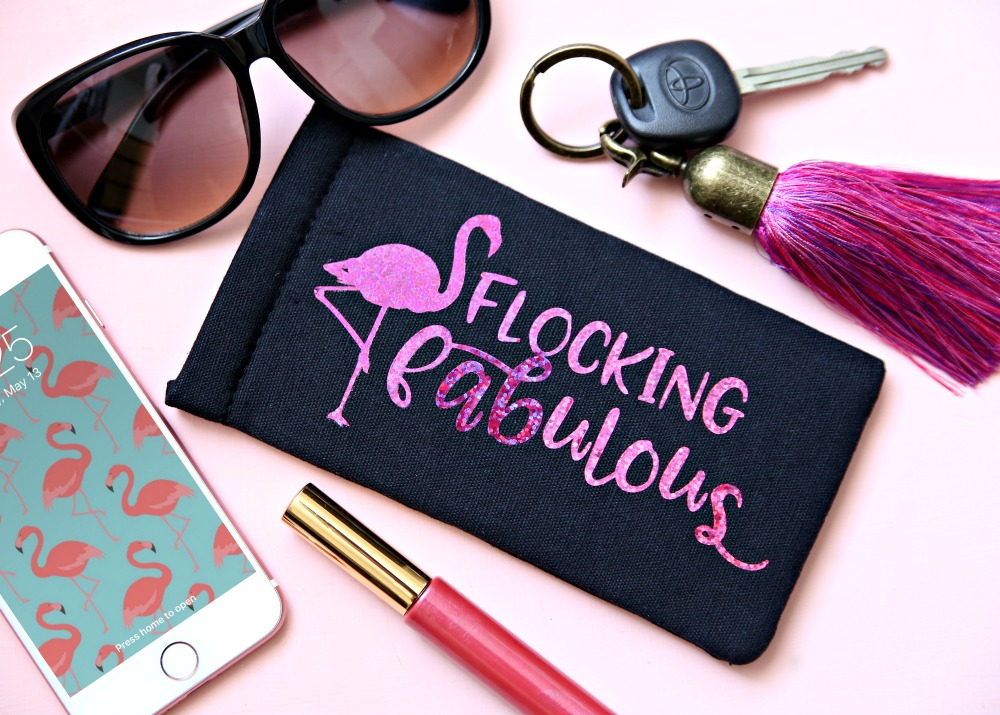 Flocking Fabulous Free SVG Cut File and Sunglass Case Tutorial