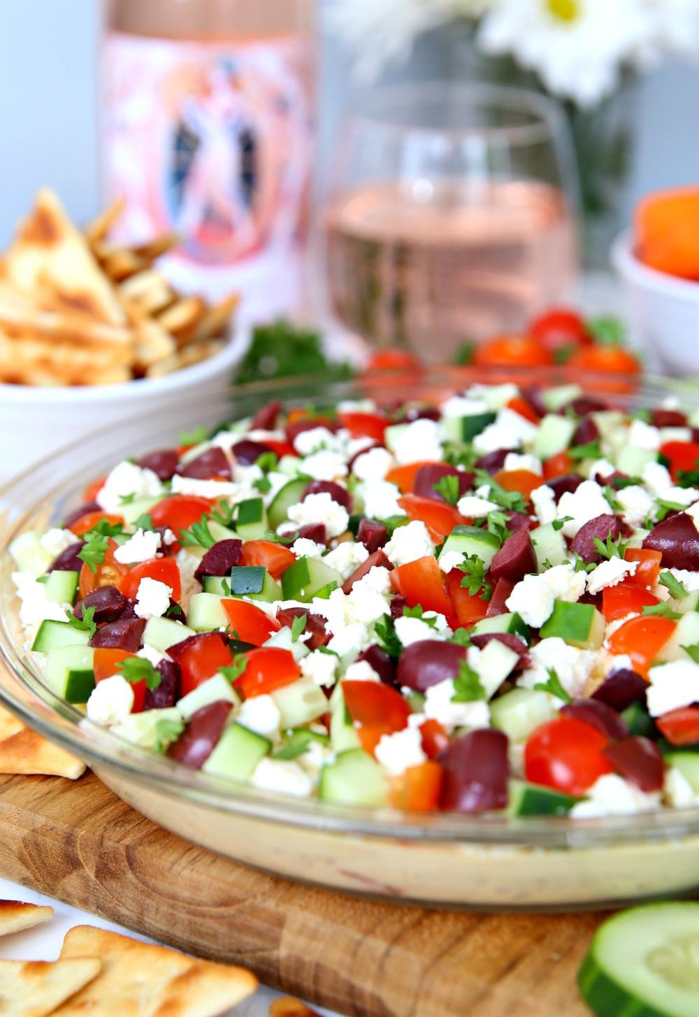 Greek Hummus Dip An Easy Appetizer